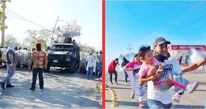 (Video) REPRIMEN POLICÍAS CARAVANA DE PADRES EN BUSCA DE LOS 43