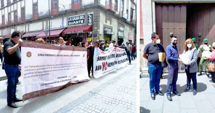 MAESTROS NAYARITAS, DENUNCIAN EN PALACIO NACIONAL FALTA DE PAGO