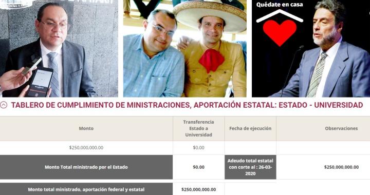 GOBIERNO DE NAYARIT SÍ DEBE A LA UAN 250 MILLONES DE PESOS