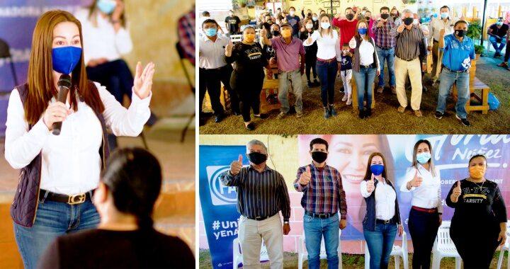 Unidos y en acción sacaremos adelante a Nayarit: Gloria Núñez