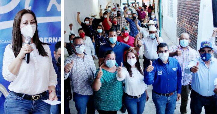 """Dedica Gloria Núñez tiempo completo a ganar confianza de militancia de """"Va por Nayarit"""""""