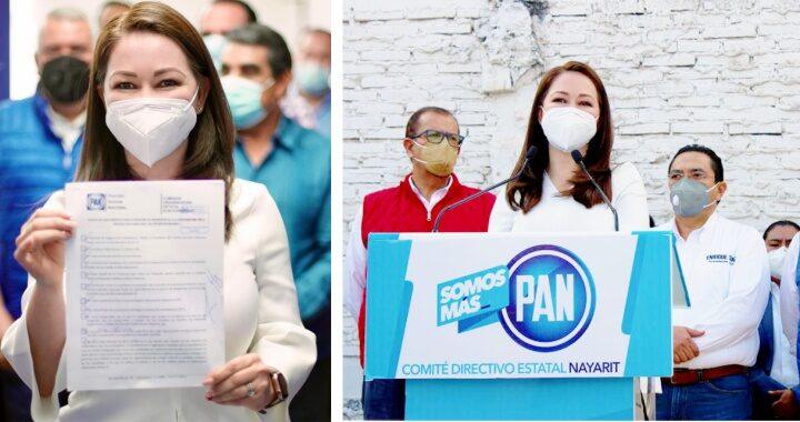 Se registra Gloria Núñez como pre candidata del PAN a la gubernatura de Nayarit