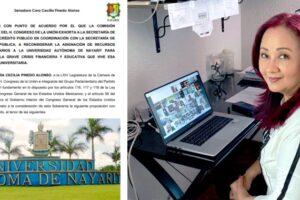 Exhorta Senado a SEP, Hacienda y gobierno de Nayarit a solucionar crisis de la UAN