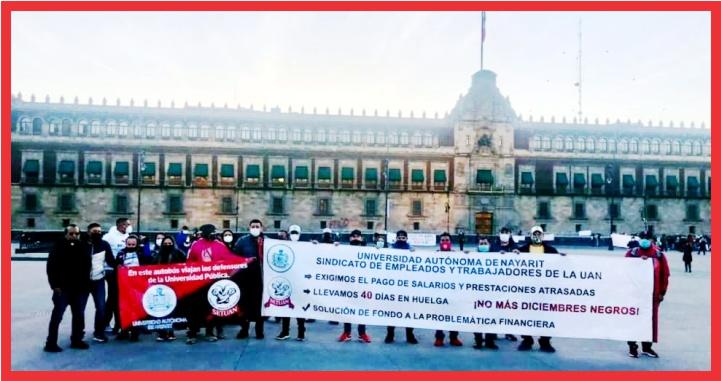 Lleva SETUAN inconformidades a Palacio Nacional y la SEP