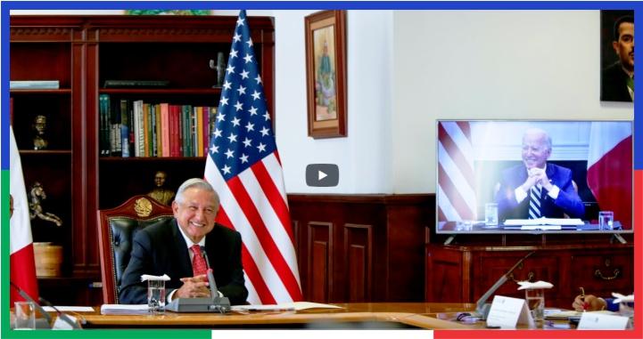 (Video) Así hablaron AMLO y Biden en reunión virtual