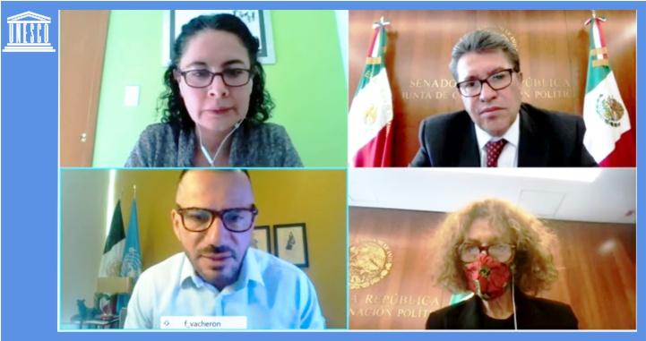 Acuerdan Ricardo Monreal y UNESCO Seminario Regional para analizar regulación de redes