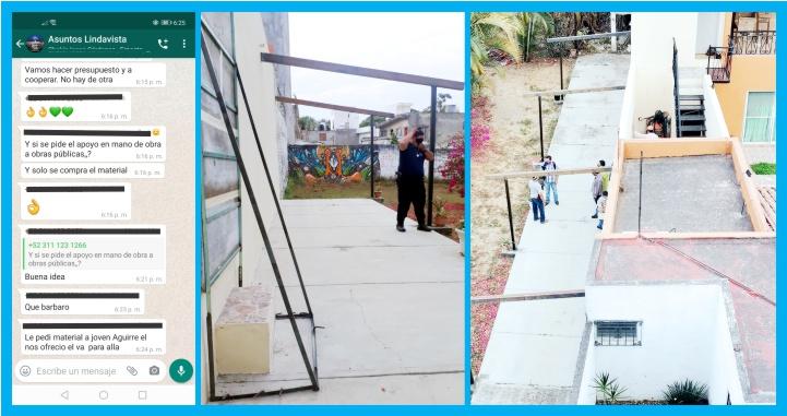 Clausuran vecinos de puerta clandestina de casa de Efrén Velázquez a terreno público