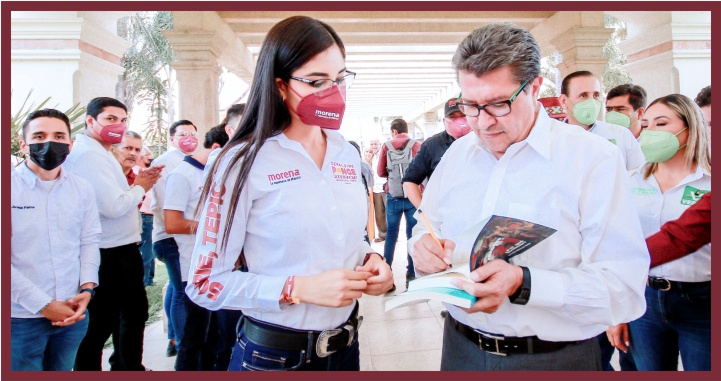 Geraldine Ponce será ejemplo para los hombres que han gobernado Tepic: Ricardo Monreal