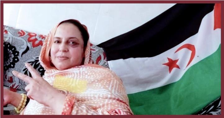 Fuerzas de ocupación marroquís agreden de nuevo a Sultana Jaya, le rociaron ácido en la cara