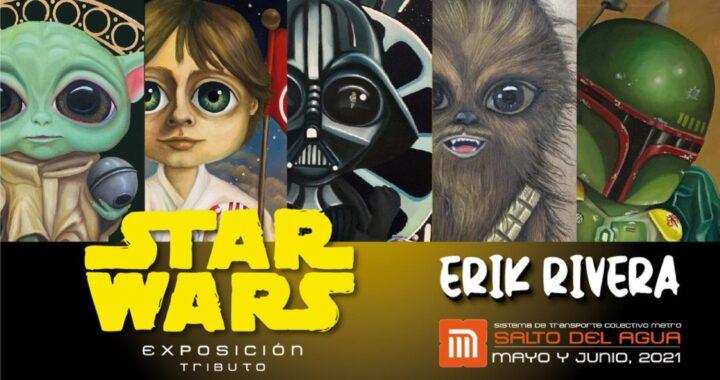 Erik Rivera hace un tributo a la distancia a Skywalker en el metro