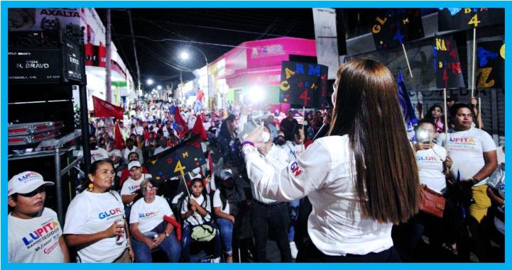 Espectacular cierre de campaña de Gloria Núñez en Compostela