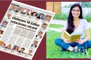 Se reconoce a nivel nacional votación récord de Geraldine Ponce en elección