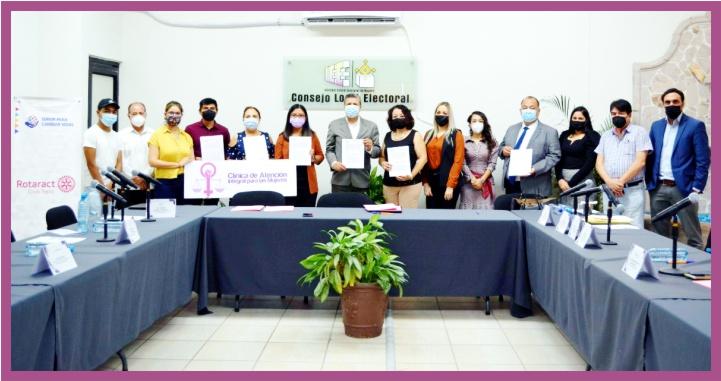 Firma IEEN convenios con ONG's para promover la educación cívica