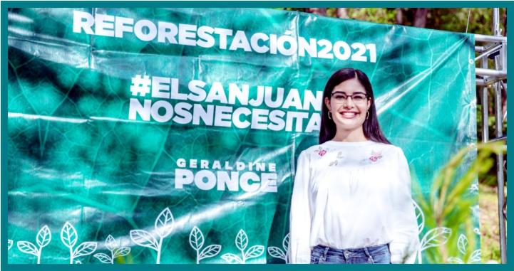 Con la iniciativa de Geraldine Ponce habrá 25 mil pinos más en el cerro de San Juan