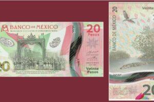 Este es el nuevo billete de 20 pesos
