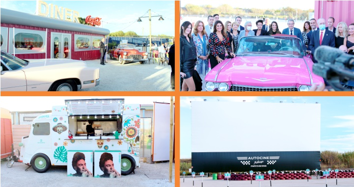 Llega el autocine a la ciudad de Málaga con estilo estadounidense de los 50's