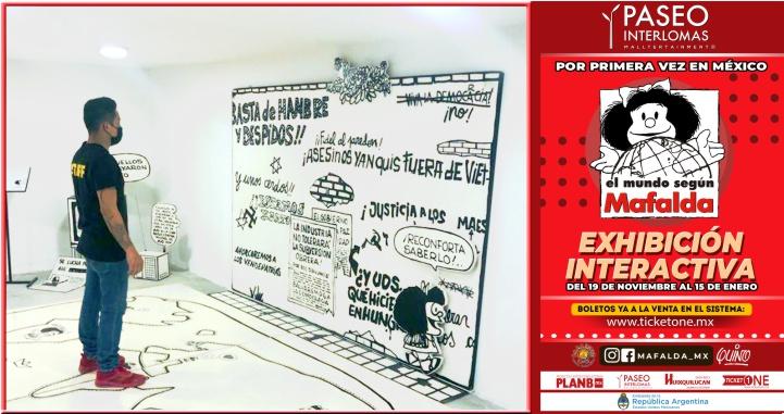 El mundo según Mafalda aterriza en la ciudad de México (Video)