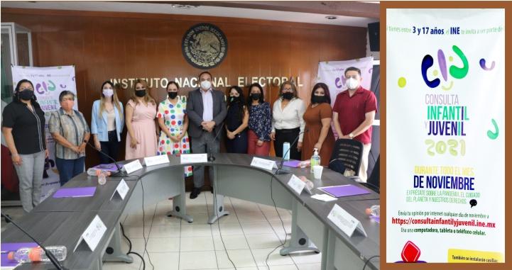 Instala INE grupo responsable de la Consulta Infantil y Juvenil 2021