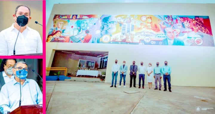 """Develan mural """"La Ciencia al Servicio de la Humanidad"""" en la UAN"""