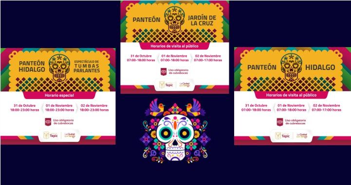 Pone orden Gobierno de Tepic a horarios de visita a panteones por Día de Muertos